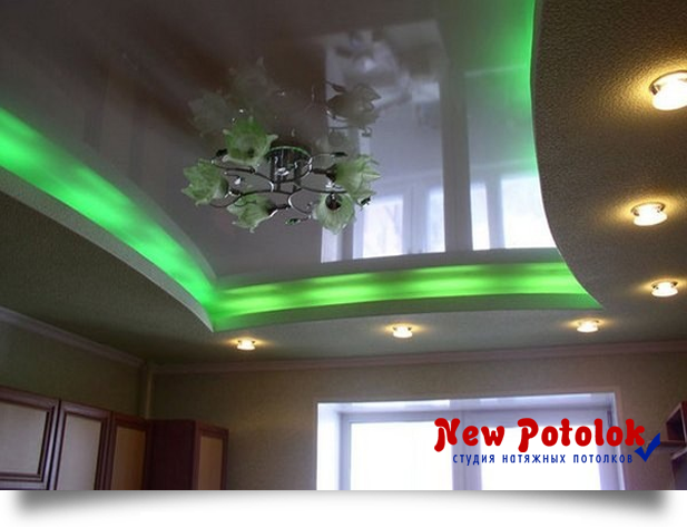 """Натяжные потолки от компании """"New Potolok"""" S_led_podsvetkoy15"""